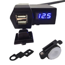 LED Voltmeter USB Charger For Yamaha Road Star Warrior Midnight Silverado1700