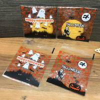 Fj- 100Pcs Halloween Cartoon Auto Sigillo Adesivo Biscotti Candy Pacco Regalo E