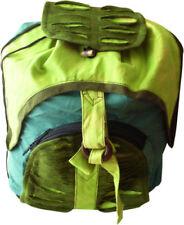 Borse da donna verde con tasche esterne in cotone