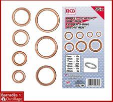 Assortiment de 95 joints cuivre toriques spécial bouchons vidange : Ø 8 - 20 mm