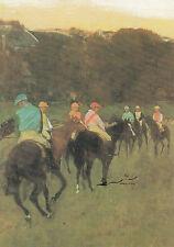 Postkarte/ Postcard: Edgar Degas - Rennpferde in Longchamp