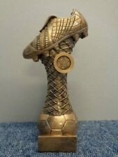 RF153D 267mm Football Boot Trophy inc Engraved Plate & Football Centre