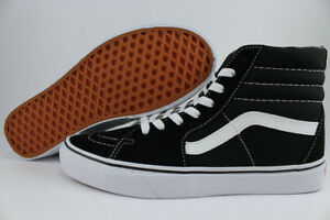VANS SK8-HI HIGH BLACK/WHITE CLASSIC SKATE CANVAS SUEDE VN000D5IB8C US MEN SIZES
