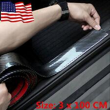 3D Car Accessories Carbon Fiber Auto Door Plate Cover Anti Scratch Sticker