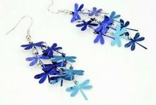 Festival Party Luxury Boutique Uk Blue Dragonfly Tassel Fashion Earring Boho