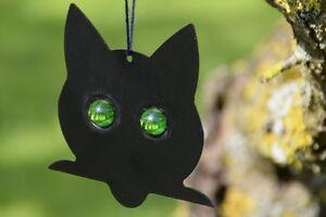 5 Stück Katzenkopf Silhouette Vogelschreck Ernteschutz Vogelabwehr #008.013