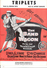 "THE BAND WAGON Sheet Music ""Triplets"" Fred Astaire Cyd Charisse"