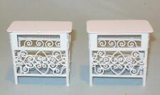 CONCORD PR OF END TABLE /NIGHT STANDS IRON WIRE  DOLLHOUSE FURNITURE  MINIATURES