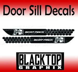 "DOOR SILL DECALS 30"" for Dodge Challenger Scat Pack 2020 2019 2018 2017 2020"