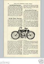 1905 PAPER AD 1906 Wagner Motorcycle Article Merkel Apecs Image