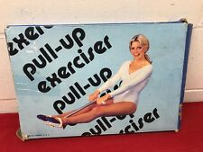 Vintage Pull-Up Spring Exerciser - Action Rowing Row Ab Fitness- BOX - Yellow