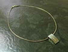 Titan-Anhänger mit Diamant von Boccia und Schlangenkette 585er Gold 14 Karat