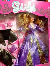 Girls with Flower - Bambola tipo Barbie Vestito Floreale Viola - Cigioki - Nuova
