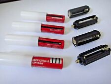 4X 18650 battery& 4X 18650 battery case & 4X Cylindrical AAA plastic holder USA