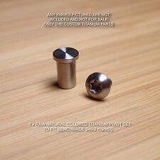 Benchmade 940-2 Osborne G10 Knife 2 PC Custom Natural RAW Titanium PIVOT Set