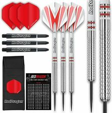 RED DRAGON Raider Series: 23 Gram Steel Tip Tungsten Darts Set - Professional