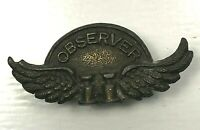 WW2 observer Corp Observer Wings lapel Badge 3.1 x 1.3 cm's
