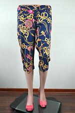 ENITA Design Ladies Vtg 90s Lux Look Baroque Chain Sexy Crop Trousers Pants sz M