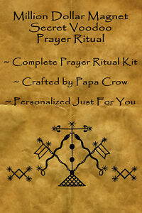 Million Dollar Magnet Voodoo Prayer Ritual Kit Money Cash Turn Around Finance