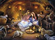 No Room in the Inn by Tom duBois Religious Manger Scene Christmas Art Print 9x12