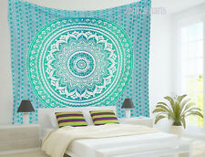 Queen Size Ombre Mandala Wall Hanging Tapestry Indian Bedspread  Decorate Hippie