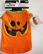 "Dog  Halloween Costume  S/P  5lbs to 15lbs/10""-13""  PUMPKIN TEE"
