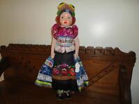 Budapest Hungary 1930's Antique Doll 17 inch Handmade Original Costume