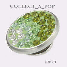 Authentic Kameleon Sterling Silver Pitsachio Wave Jewelpop KJP471  *RETIRED*