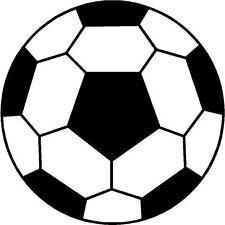 Football Ball Soccer Ball Logo Adesivo Decalcomania Grafica Vinile Etichetta Nera V2