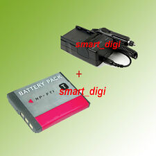 Battery pack new + Charger For NP-FT1 SONY Rechargeable Lithium-ion DSC-T9 T5