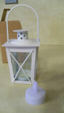 Ivory (white) Mini Colonial Williamsburg Votive Lantern Tealight Candle NEW