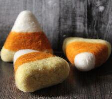 Needle felted Candy Corn Folk Art bowl fillers primitive Melissa Philbrook USA