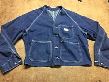 Vintage 1940's Denim Work Jacket Vest Big Mac L