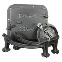 Cast Iron Barrel Heater Stove Kit Fireplace Garage Wood Shop Workshop Camping