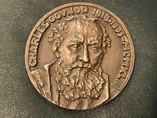 XRARE LARGE ART DECO BRONZE MEDAL CHARLES GOUNOD - ROMEO & JULIET by LAVRIL N135