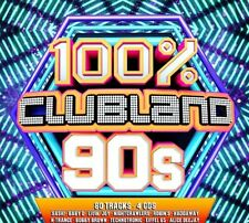 VARIOUS - 100% CLUBLAND 90's BRAND NEW 4CD