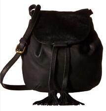 NWT $168 Lucky Black Leather & Hair Calf Mini Crossbody