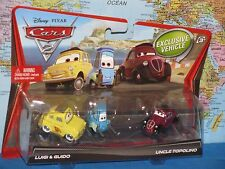 DISNEY PIXAR CARS 2 LUIGI & GUIDO UNCLE TOPOLINO 3 PACK ***BRAND NEW & RARE***