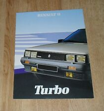 Renault 11 Turbo Brochure 1984 - UK Market