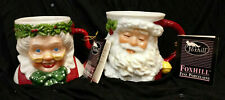 Mr & Mrs Claus Christmas Mugs Cups Possible Dreams 1991 New w/tag