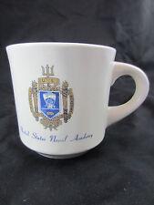 U.S. Naval Academy mug with crest vintage diner style mug