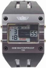 "Uzi Digital Sports Watch UZI-W-799 Rectangular face measures 1 5/8"". Black compo"