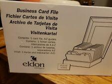 Business Card Holder Box File Storage Index Organizer Eldon For 500 Cards
