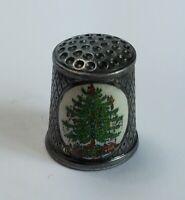1984 Christmas Versilbert Germany Silver Plated & Enamel Hummel Thimble