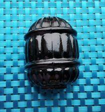 Bird Cage Feeder, Vintage Black Glass