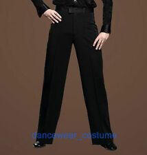 Men's Boys Ballroom Latin Rhythm Salsa Dance Pants Tango Modern Smooth Trousers