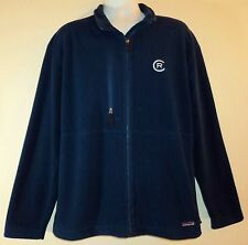 Patagonia Mens XL Fleece Jacket Navy Blue Full Zip With CR or RC Logo On Front