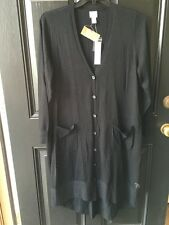 New $109 Chico's Black Paulette Cardigan Sweater Duster Topper Sz 3 XL 16 18 NWT