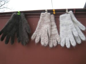 Men's GLOVES RIBBED GOAT DOWN HOMEMADE Russian craft warm soft