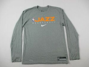 Utah Jazz The Nike Tee Long Sleeve Shirt Men's Gray Dri-Fit NEW Multiple Sizes